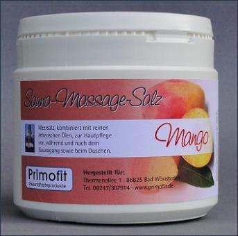 Sauna-Massagesalz - MANGO 500 Gramm