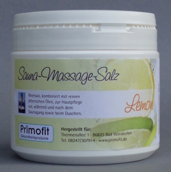 Sauna-Massagesalz - LEMON 500 Gramm