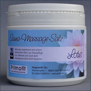 Sauna-Massagesalz - LOTUS